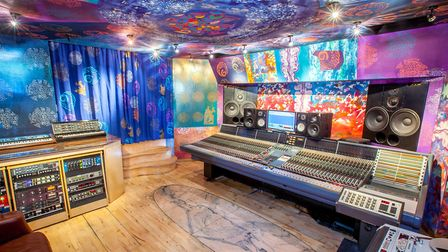 The control room at Strongroom music studios. Picture: Rob Kelly