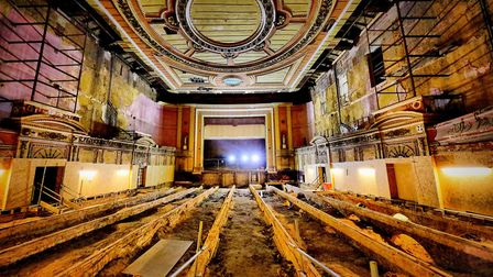 Alexandra Palace theatre during the restoration. Picture: Keith Armstrong