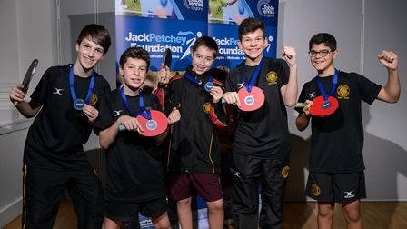University College School pupils were runners-up in the under-16 competition (pic Stephen Pover)