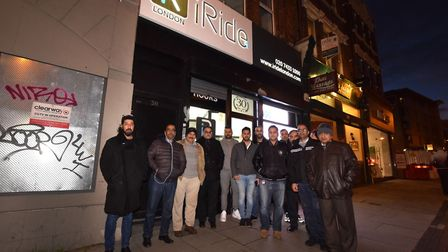 Drivers arrive at iRide office 311 Finchley Rd NW3 where they were set to meet with the owner over t
