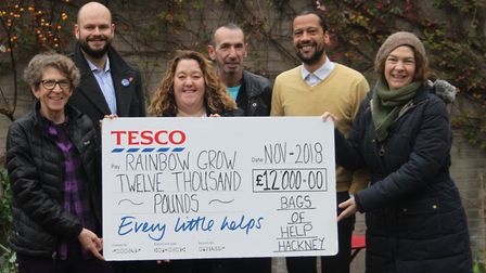 Hackney's LGBTQI+ led gardening group Rainbow Grow has received £12,000 from Tesco
