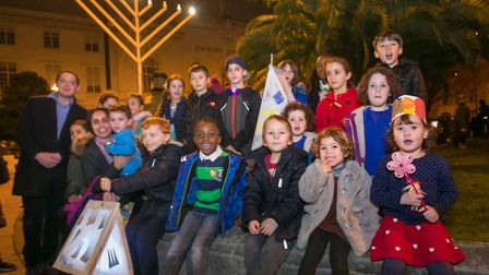 Simon Marks School choir at the Christmas lights switch on. Picture: Hackney Council/ Gary Manhine