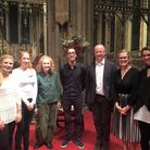 Palisander pictured with the panel of the Early Music Young Ensemble Competition. Picture: Callum Mo