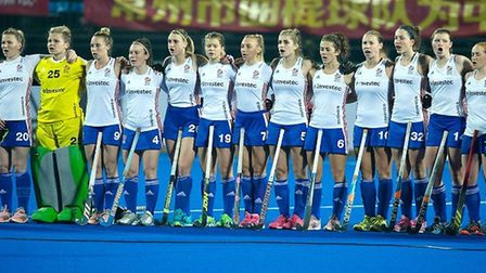 Great Britain's women line up at the Champions Trophy (pic England Hockey)
