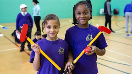 Hackney schoolchildren at a golf taster session (Pic: Mark Sims)