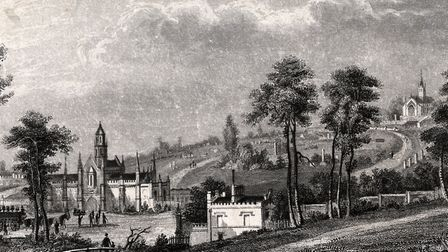 An anonymous print of Highgate Cemetery dating from 1835. Picture: Camden Local Studies and Archives