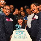 Director Colette Allen and members of youth charity Hackney Quest celebrated the group's 30th annive