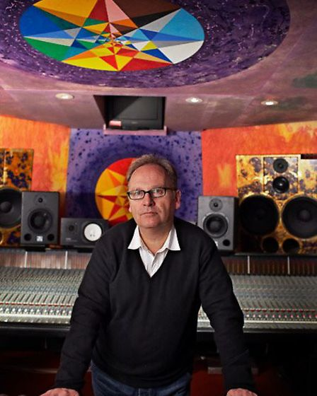 Producer Phil Harding at Strongroom's studio 3. Picture: Mike Banks