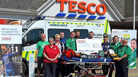 Volunteers at St John Ambulance''s Lowestoft unit display the kit that has been secured through the