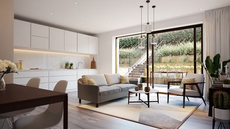 The Hackney Gardens apartments feature light and spacious open-plan kitchen and living areas