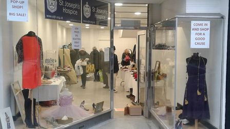 The new St Joseph's pop-up shop in Well Street