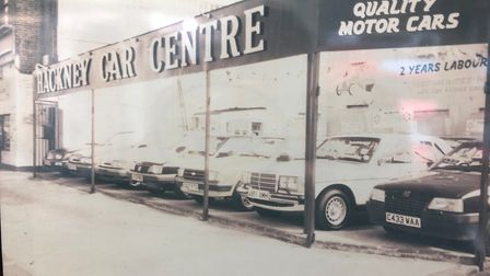 Hackney Car Centre in 1986.
