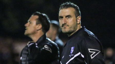 New Wingate & Finchley manager Glen Little on the touchline (pic: Martin Addison).