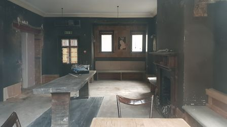 Empty room at the Old White Bear
