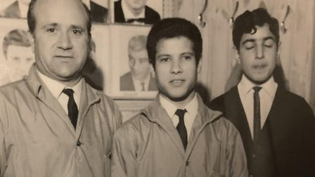 Gino, left, and two apprentices.