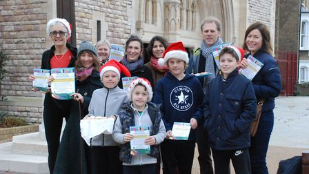 Welcome Syrian Families group outside All Hallows Church in Gospel Oak. Picture: Emily Woof