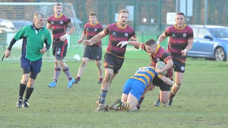 Action from UCS Old Boys against St Albans in Herts/Middlesex One (pic: Nick Cook)