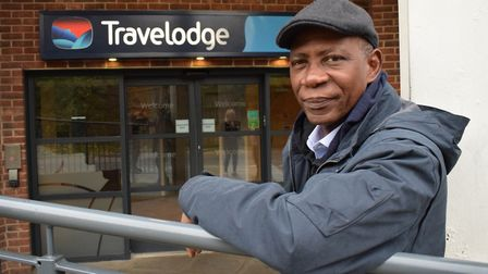 Sahr Kamanda is just one of many residents from Willow House who has been living out of a hotel room