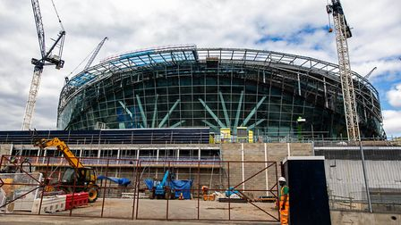 A general view of the ongoing construction of Tottenham Hotspur's new stadium in London (pic Steven