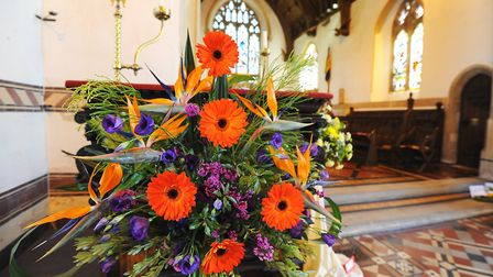 A previous flower festival at St Peter and St Paul Church in Wangford. Picture: James Bass