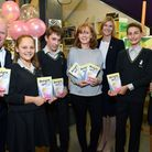 Launching the Archer Academy's library appeal, actor Steve McFadden, author Anne-Marie Conway and he