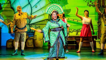 Tameka Empson of EastEnders fame appears in her sixth panto at Hackney Empire. Picture: Robert Workm