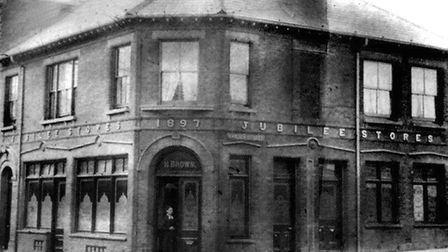The Jubilee Stores pub in Lowestoft, on the corner of High Street and Camden Street. Opened in 1897