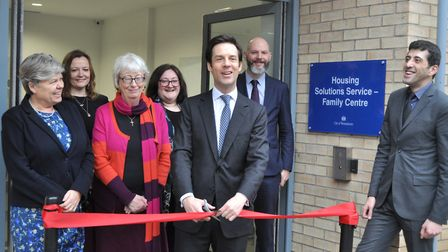 Cllr Andrew Smith opens the Bruckner Road homlessness prevention centre in Queen's Park, Picture: We
