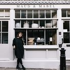 Karen Whiteley outside her shop and gallery Maud & Mabel, on Perrin's Court in Hampstead.