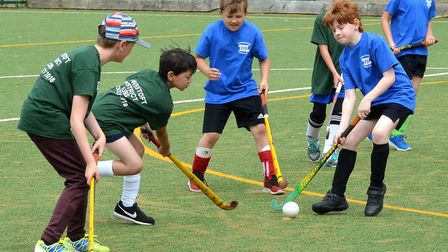 Action from the inaugural Lowestoft District Cubs hockey tournament. Pictures: Mick Howes