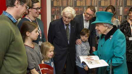 Muswell Hill sisters Lotte and Lusha Rometsch meet the Queen at event celebrating adoption and foste