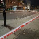 Prince of Wales Road was taped off after the stabbing. Picture: Harry Taylor