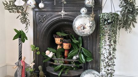 Becca uses her florist's eye to make festive arrangments around her home