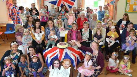 Pakefield toddlers marked the upcoming Royal Wedding. Picture: Mick Howes