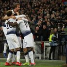 Tottenham Hotspur players celebrate Christian Eriksen's goal (pic: Nick Potts/PA Images).
