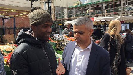 Sadiq Khan, seen here meeting a local on his 2016 campaign trail, has given �770,000 from his Good G