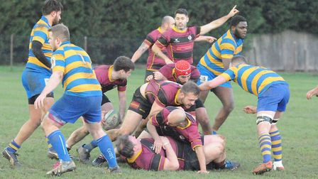 Action from UCS Old Boys against St Albans (pic: Nick Cook)
