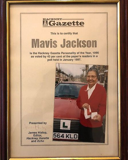 Mavis Jackson was the Gazette's 'personality of the year' in 1997