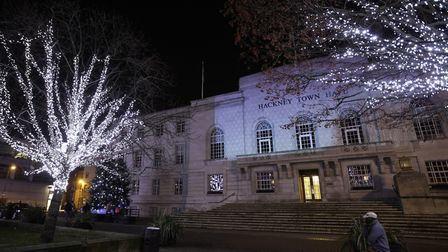 Hackney Town Hall Square will be lit up. Picture: Hackney Council