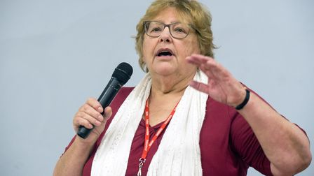 Cllr Zena Brabazon, pictured in November at an event in Tottenham, has been sacked from Haringey's c