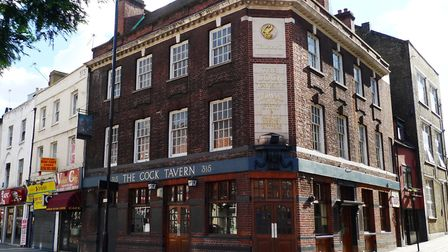 The Cock Tavern in Mare Street. Picture: Ewan Munro (CC BY-SA 2.0)