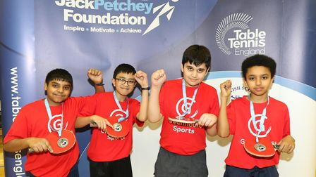 The successful Coldfall Primary team face the camera (pic: Jack Petchey Foundation)