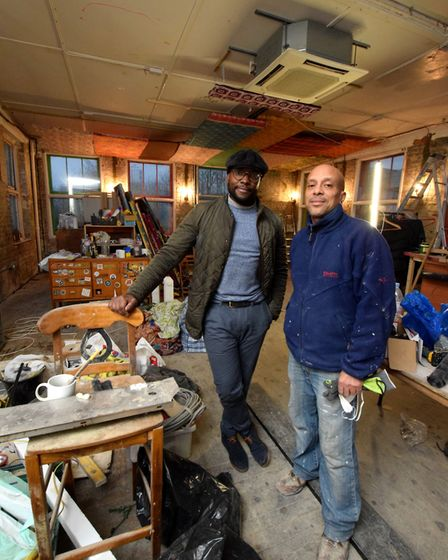 Kwame Otiende and Aaron Edwards, co-owners of The Jago which will open in the same building that for