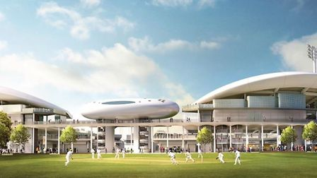 The view of the new stand from the nursery ground at Lord's. Picture: Marylebone Cricket Club