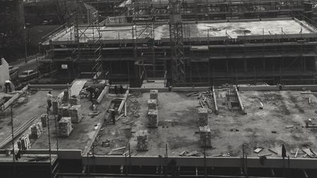 Highgate Newtown during construction during the 1970s. Picture: Camden Local Studies and Archives Ce