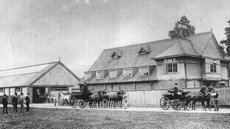 The main stable and riding school of the Brookfield Stud, Highgate around 1890. Picture: Camden Loca