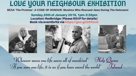 The exhibition is set to take place at a mosque in Redbridge on January 20.