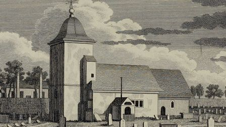 St Pancras Old Church, pictured in 1800. Picture: Courtesy of Camden Local Studies and Archives Cent