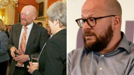 Left, David Douglas with Theresa May. Right, Theo Blackwell. Pictures: David Douglas/Theo Blackwell