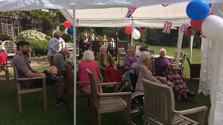 Staff, residents and their families joined in with the Royal Wedding celebrations on Saturday at Bro